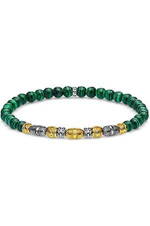 Thomas Sabo Thomas Sabo Unisex-Armband Talisman bicolor grün 925 Sterlingsilber gelbgold vergoldet A1920-140-6-L15