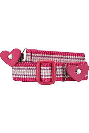 Playshoes Playshoes Mädchen Gürtel 601231 Elastischer gestreifter Kindergürtel mit Clips in Herzform, passend bei Größe 74-110
