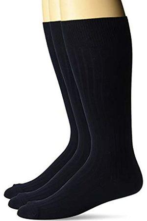 Buttoned Down Amazon-Marke - Herren-Socken aus Feinripp, seidig weich, elegant, 3 Paar