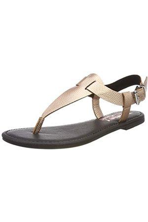 Tommy Hilfiger Damen Shiny METALLIC Flat Sandal Zehentrenner, Pink (Rose Gold 652)