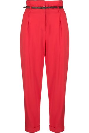 PESERICO SIGN Cropped-Hose mit Paperbag-Taille
