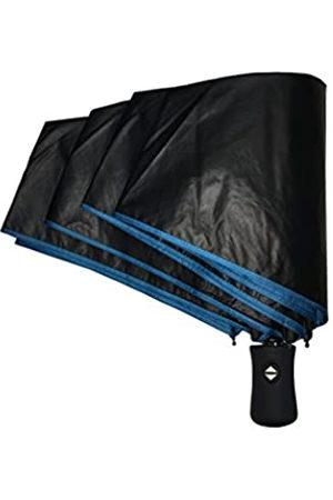SMATI SMATI Taschenschirm sturmfest - Anti-UV - Winddicht - Regenschirm Kompakt - entwerfen in Paris 2018(Blau)