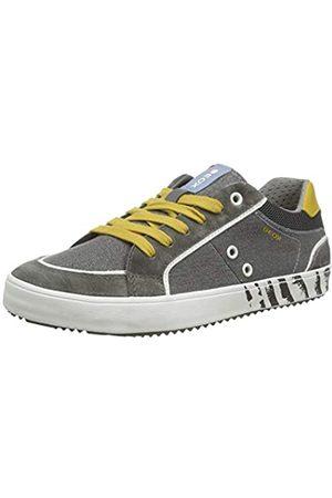 Geox Geox Jungen J Alonisso Boy E Sneaker, Grau (Grey/Yellow C0030)