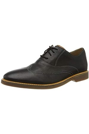 Clarks Clarks Herren Atticus Vibe Derbys, Schwarz (Black Leather Black Leather)