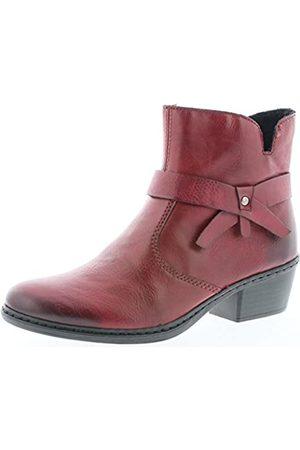 Rieker 75553 Damen Stiefel, Stiefelette, Schlupfstiefel, Boot, Slip-On Boot (wine / 35)