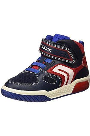 Geox Geox Jungen J INEK BOY A Hohe Sneaker, Blau (Navy/Red C0735)