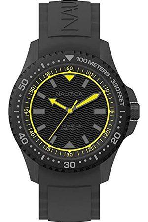 Nautica Nautica Herren Analog Quarz Uhr mit Silikon Armband NAPMAU006