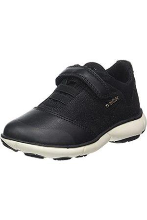Geox Geox Mädchen J Nebula Girl A Sneaker, Schwarz (Black)