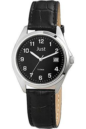 Just Watches Just Watches Herren-Armbanduhr XL Analog Quarz Leder 48-S11008-BK
