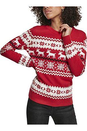 Urban classics Damen Pullover Ladies Norwegian Christmas Ugly Sweater Sweatshirt