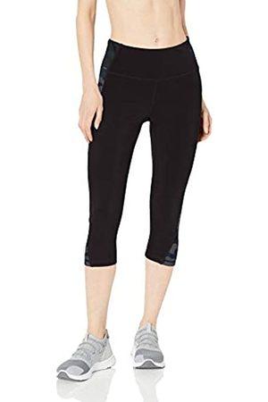 Amazon Amazon Essentials Colorblock Performance Mid-Rise Capri Leggings, Black/Grey Camo