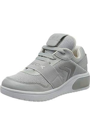 Geox Geox Mädchen J XLED Girl A Sneaker, Grau (Lt Grey C1010)