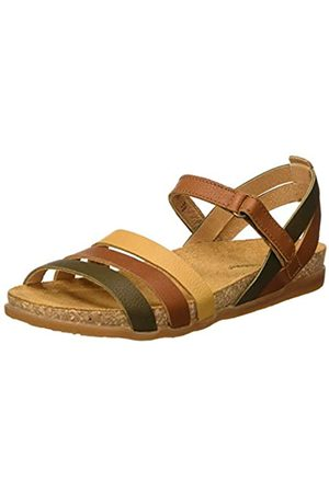 El Naturalista Damen N5244 Multi Leather Zumaia Peeptoe Sandalen, Braun (Cuero Mixed Cuero Mixed)