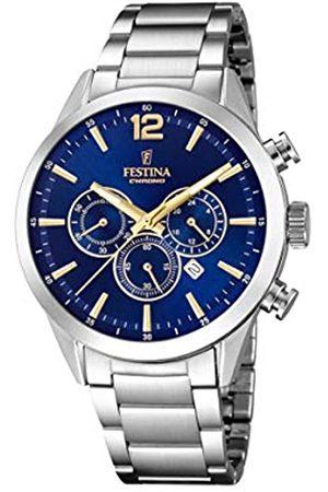 Festina Festina Herren Chronograph Quarz Uhr mit Edelstahl Armband F20343/2
