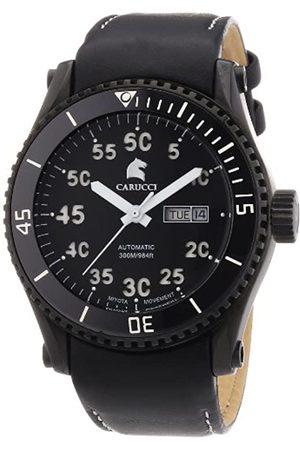 Carucci Carucci Watches Herren-Armbanduhr XL Analog Automatik Edelstahl CA2196BK-WH