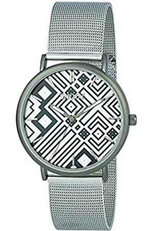 Snooz Snooz Herren Analog Quarz Uhr mit Edelstahl Armband Saa1042-76