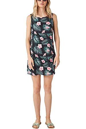 s.Oliver S.Oliver RED LABEL Damen Sommerliches Kleid aus Leinen navy floral print 38