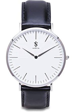 NORVIN NORVIN Unisex Erwachsene Analog Quarz Uhr mit Leder Armband 9912