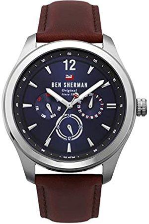 Ben Sherman Ben Sherman Herren Multi Zifferblatt Quarz Uhr mit Leder Armband WBS112UT