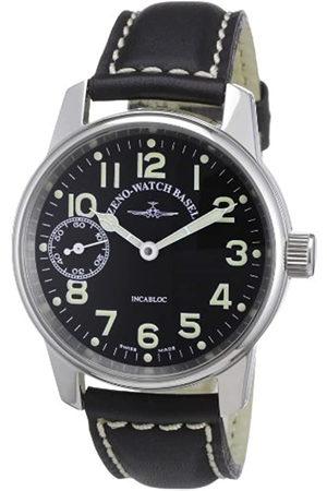 Zeno Zeno Watch Basel Unisex-Armbanduhr Classic Pilot Analog Handaufzug Leder 6558-9-a1
