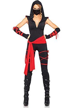 Leg Avenue LEG AVENUE 85087 - 5TL. Tödliches Ninja Kostüm Set, 5-teilig, Größe XL, schwarz/rot