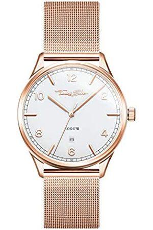 Thomas Sabo Unisex Erwachsene Analog Quarz Uhr mit Edelstahl Armband WA0341-265-202-40 mm