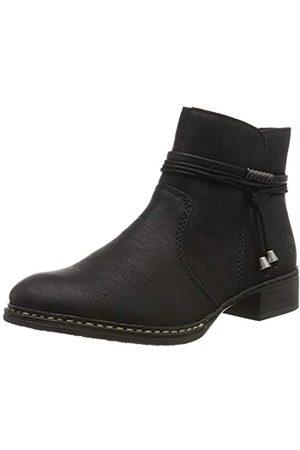 Rieker Damen Stiefeletten 73488, Frauen Ankle Boots, Woman Freizeit leger Stiefel halbstiefel Bootie knöchelhoch Damen, / 00