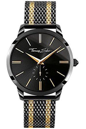 Thomas Sabo Thomas Sabo Herren-Armbanduhr REBEL SPIRIT Mesh Bico Black Gold Chronograph Quarz Edelstahl WA0281-284-203-42 mm