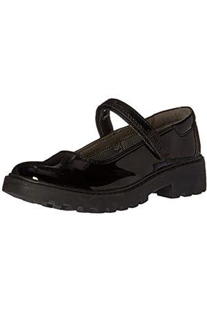 Geox J Casey Girl P School Uniform Shoe, (Black) 01