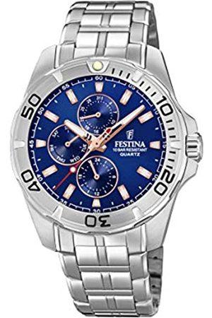 Festina Festina Herren Multi Zifferblatt Quarz Uhr mit Edelstahl Armband F20445/5