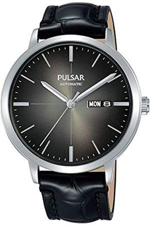 Pulsar Pulsar Herren Analog Automatik Uhr mit Leder Armband PL4045X1