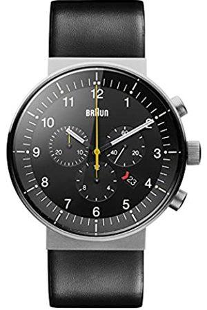 von Braun Braun Herren Analog Quarz Uhr mit Leder Armband BN0095SLG