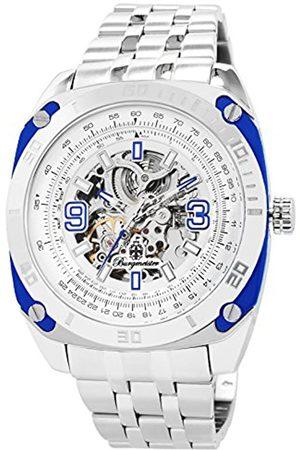 Burgmeister Burgmeister Armbanduhr für Herren mit Analog Anzeige, Automatik-Uhr mit Edelstahl Armband - Wasserdichte Herrenuhr mit zeitlosem
