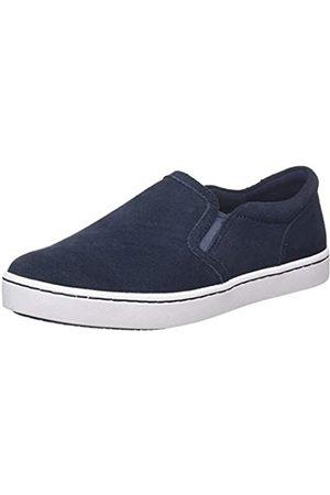 Clarks Damen Pawley Bliss Slip On Sneaker, (Navy Suede Navy Suede)