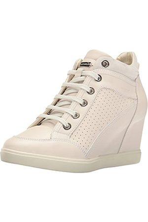 Geox Damen D Eleni C Hohe Sneaker, Elfenbein (Off White)