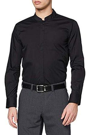 Kustom Herren Men's Mandarin Collar Shirt Businesshemd