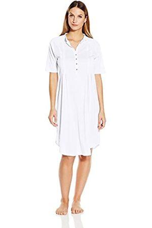 Hanro HANRO Damen Nachthemd 1/2 Arm 100 cm Cotton Deluxe (0101 white)
