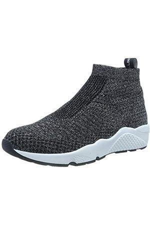 Pollini Damen Runmesh Hohe Sneaker, (Black 000)
