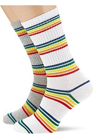 Urban classics Unisex Rainbow Stripes 2-Pack Socken