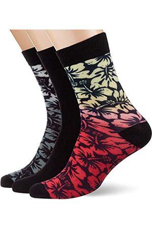 Urban classics Unisex Flower 3-Pack Socken