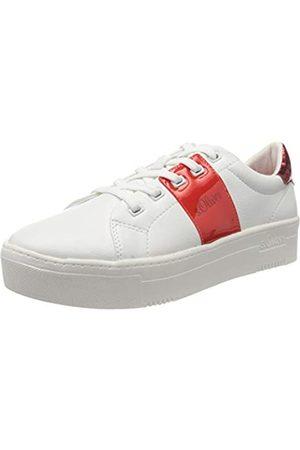 s.Oliver S.Oliver Damen 5-5-23628-24 Sneaker, Weiß (White/RED 155)