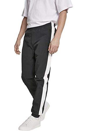 Urban classics Herren Hose Side Striped Crinkle Track Pants Blk/Wht Größe: XL
