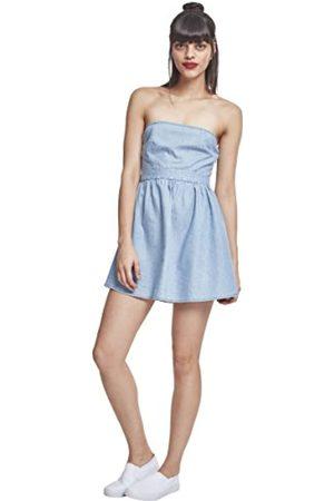 Urban classics Urban Classics Damen Ladies Denim Bandeau Dress Kleid
