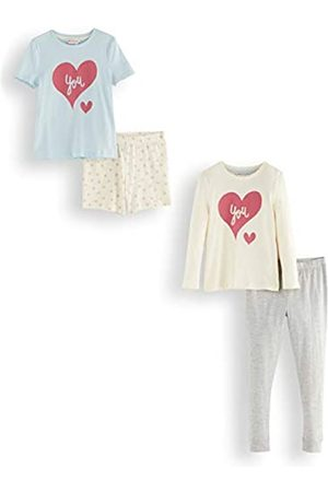 RED WAGON Amazon-Marke: RED WAGON Mädchen Pyjama-Set aus Baumwolle, 2er-Pack, 116