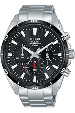 Pulsar Pulsar Herren Chronograph Solar Uhr mit Edelstahl Armband PZ5059X1