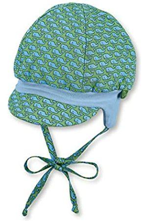 Sterntaler Sterntaler Ballonmütze für Jungen mit Bindebändern, Ohrenklappen und Muster mit Wal-Motiven, Baumwolle, Alter: 4-5 Monate