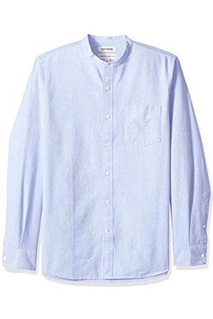 Goodthreads Amazon-Marke - , Oxford-Herrenhemd, Langarm, Stehkragen, normale Passform (Blue Blu)