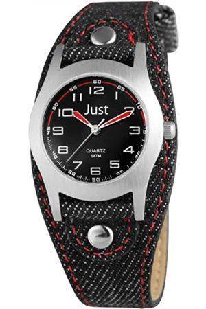 Just Watches Just Watches Unisex-Armbanduhr Analog Quarz Textil 48-S0010-BK-RD