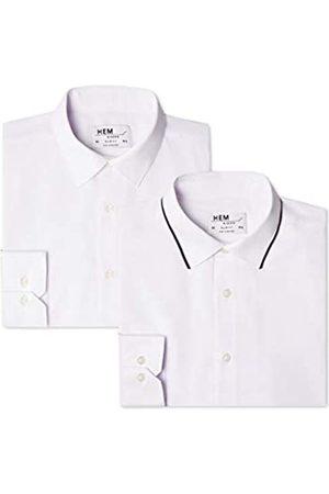 FIND Find. Herren Businesshemd 2 Pack Slim Shirt, 45 cm