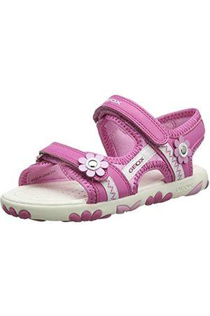 Geox Mädchen J Haiti Girl B Peeptoe Sandalen, Pink (Fuchsia C8002)